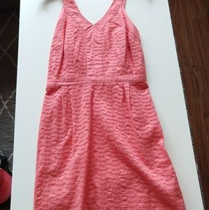 Salmon summer dress